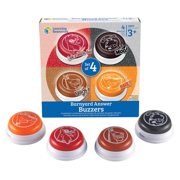 Электронные игрушки Learning Resources Гигантские кнопки Голоса животных (4 элемента)