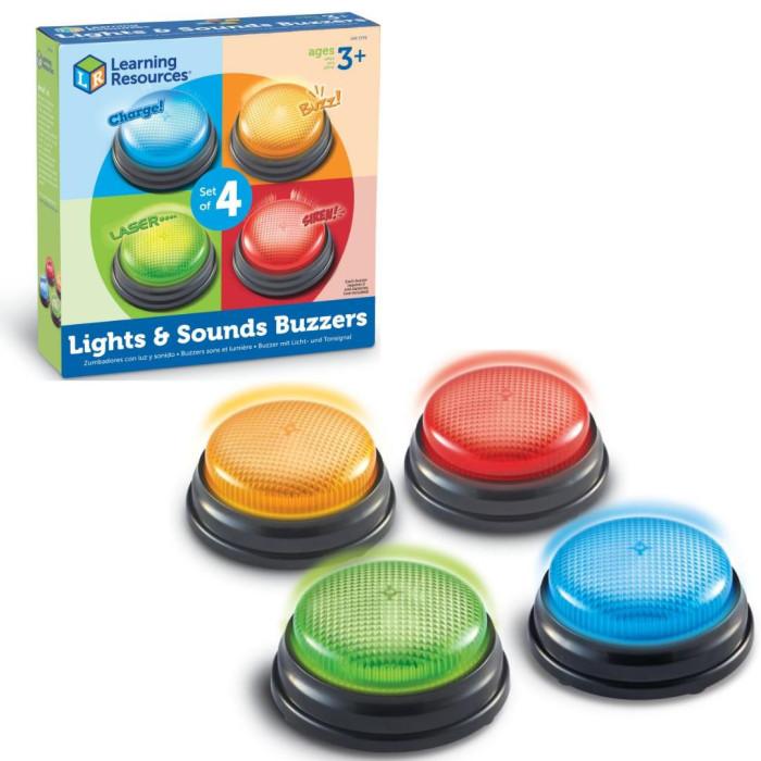 Развивающие игрушки Learning Resources Гигантские кнопки Свет и звук (4 элемента)