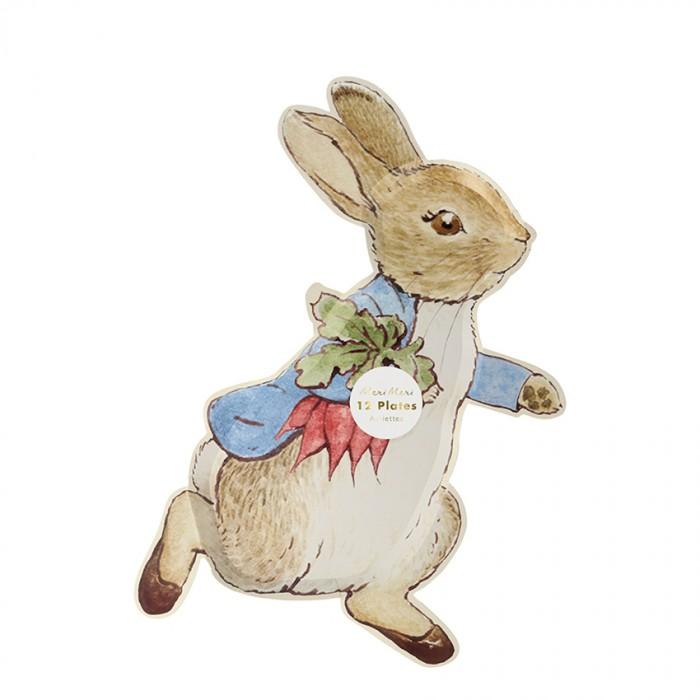 Купить Товары для праздника, MeriMeri Тарелки Кролик Питер 12 шт.
