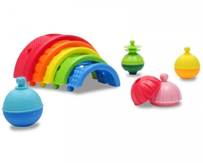 Развивающая игрушка Lalaboom Радужный конструктор (13 деталей)