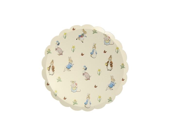 Товары для праздника, MeriMeri Тарелки Кролик Питер маленькие 12 шт.  - купить со скидкой
