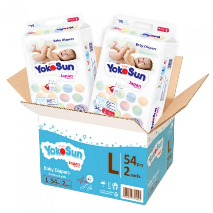 Подгузники YokoSun Megabox детские подгузники L (9-13 кг) 108 шт.
