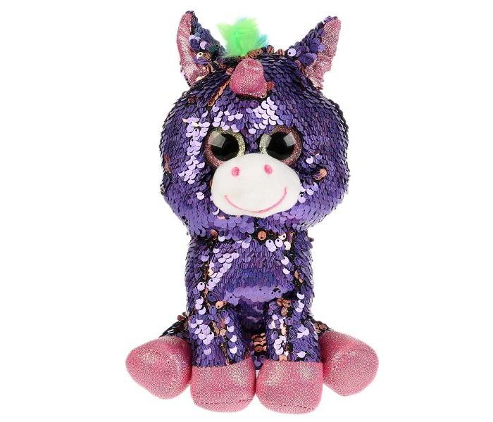 Картинка для Мягкие игрушки Мульти-пульти Единорог из пайеток 21 см