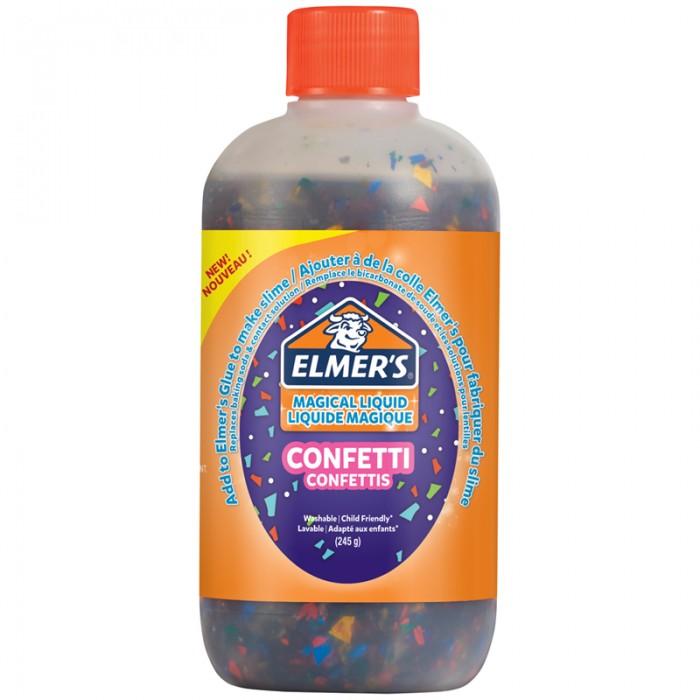 Развивающая игрушка Elmers Активатор для слаймов Magic Liquid Конфетти 245 г
