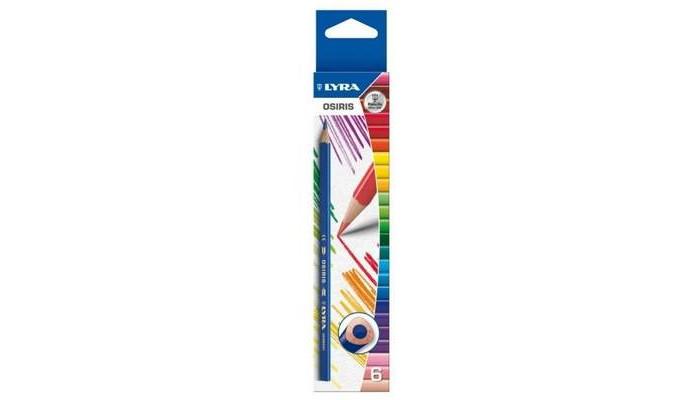 Карандаши, восковые мелки, пастель Lyra Osiris Цветные треугольное сечение 6 цветов футболка osiris breakdown white