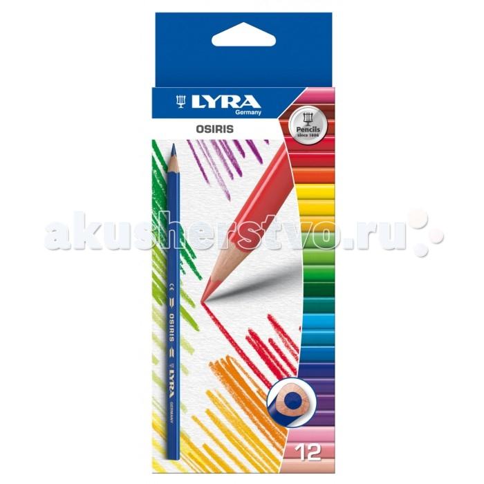 Карандаши, восковые мелки, пастель Lyra Osiris Цветные треугольное сечение 12 цветов карандаши цветные звери 12 цветов