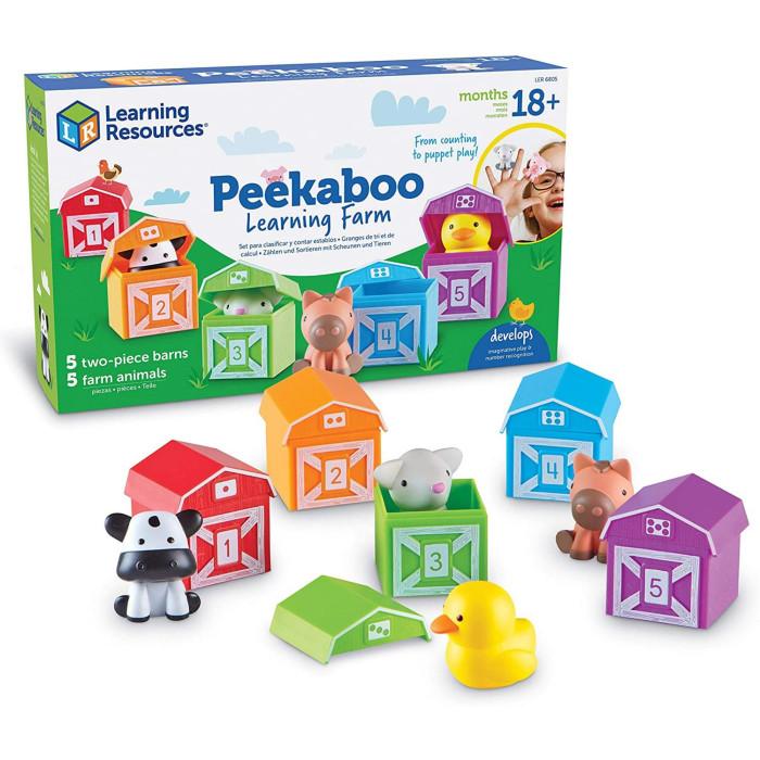 Купить Развивающие игрушки, Развивающая игрушка Learning Resources Игровой набор Кто спрятался на ферме (15 элементов)