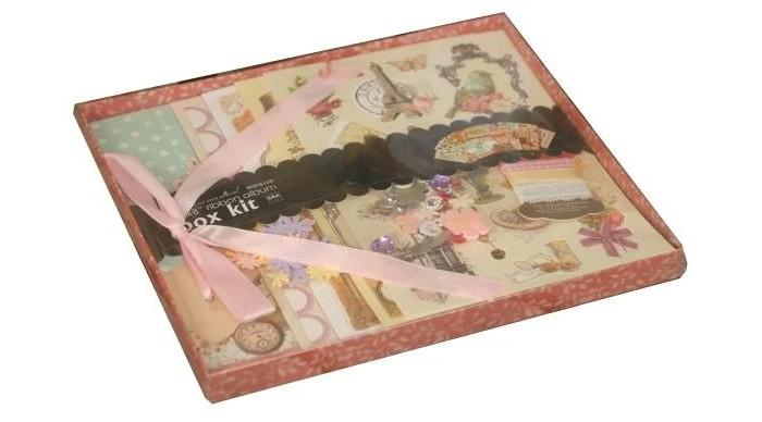 Фото - Фотоальбомы и рамки Color Kit Фотоальбом с набором для скрапбукинга Кружева росмэн фотоальбом блокнот для записей мои первые слова и истории из детства