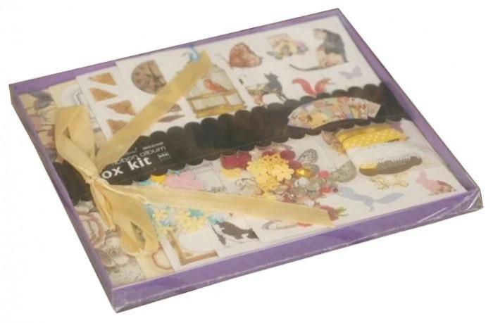 Фото - Фотоальбомы и рамки Color Kit Фотоальбом с набором для скрапбукинга Шебби шик росмэн фотоальбом блокнот для записей мои первые слова и истории из детства