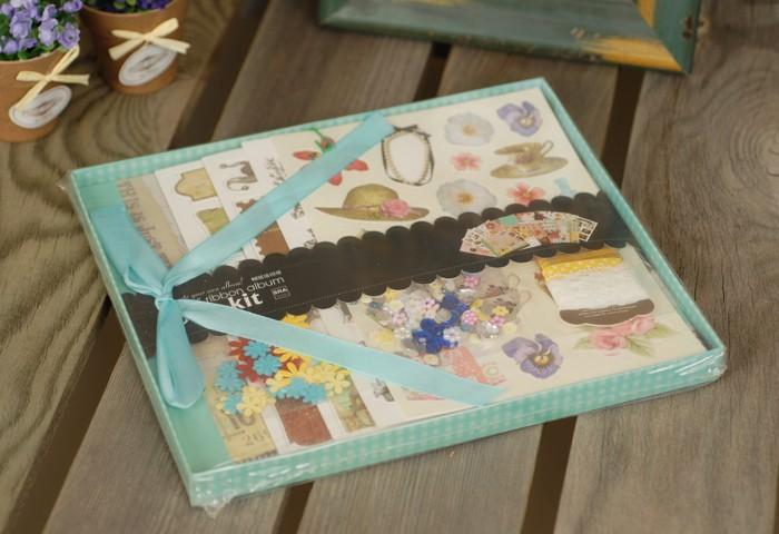 Фото - Фотоальбомы и рамки Color Kit Фотоальбом с набором для скрапбукинга Каникулы росмэн фотоальбом блокнот для записей мои первые слова и истории из детства