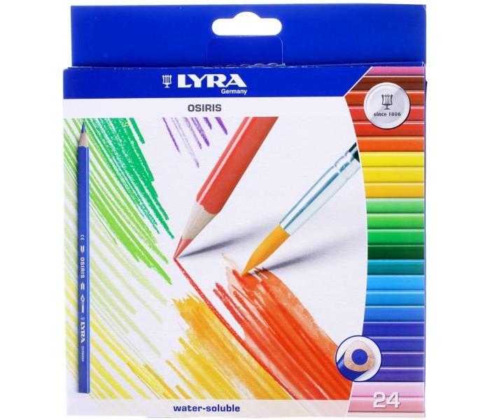 Карандаши, восковые мелки, пастель Lyra Osiris Aquarell цветные акварельные 24 цвета карандаши джунгли 24 цвета tz 4028