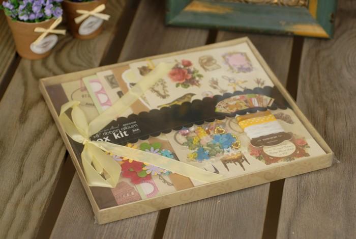 Фото - Фотоальбомы и рамки Color Kit Фотоальбом с набором для скрапбукинга Винтаж росмэн фотоальбом блокнот для записей мои первые слова и истории из детства
