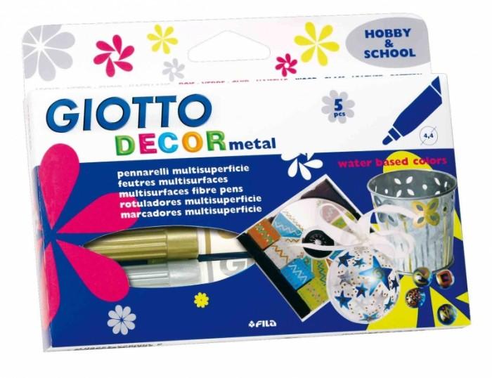 Фломастеры Giotto Decor metal для декорирования