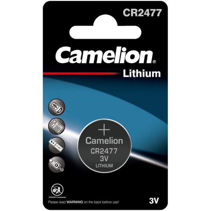 Батарейки, удлинители и переходники Camelion Батарейка литиевая CR2477 BL-1 дисковая 3В