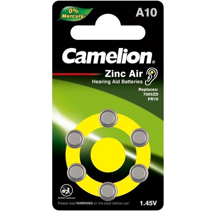 Батарейки, удлинители и переходники Camelion Батарейка для слуховых аппаратов Mercury Free ZA10 BL-6 недорого