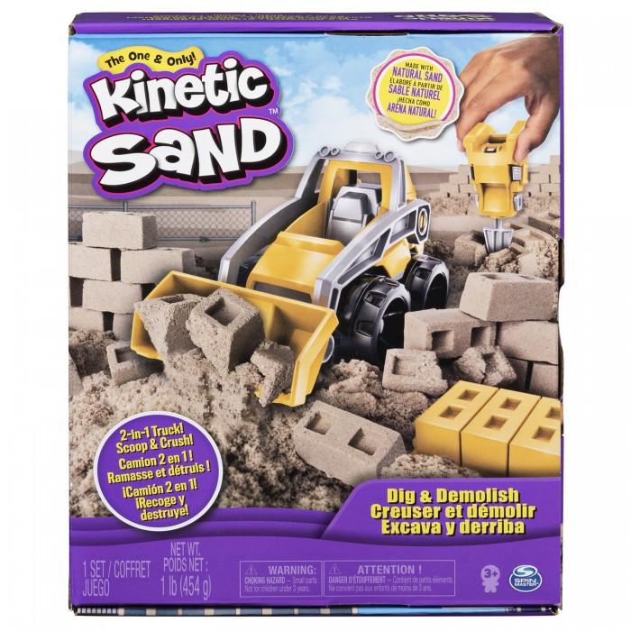 Кинетический песок Kinetic Sand Набор для лепки Кинетический песок Бульдозер
