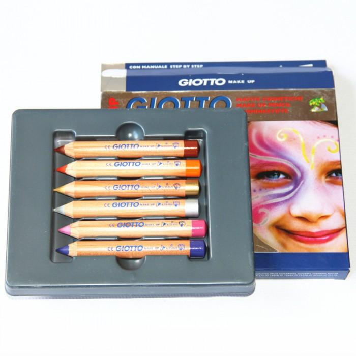 Наборы для творчества Giotto Make Up Набор из 6 классических цветов для грима набор карандашей giotto elios triangul 6 цветов 276000