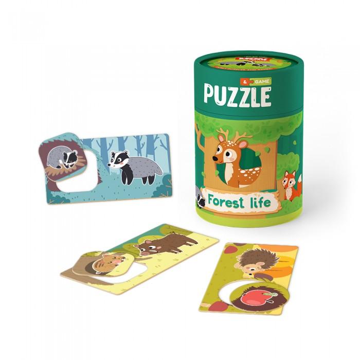 Купить Пазлы, Mon Игровой набор Зоология для малышей Лесная жизнь: пазлы и карточки с заданиями