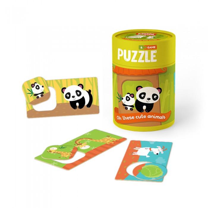 Купить Пазлы, Mon Игровой набор Зоология для малышей Хвостатые друзья: пазлы и карточки с заданиями