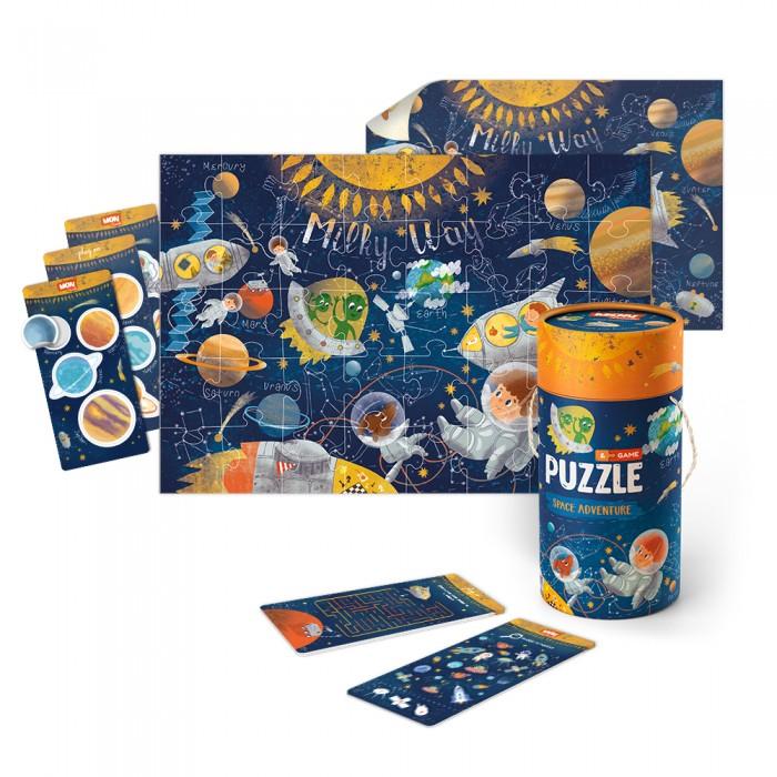 Mon Игровой набор Космическое приключение: пазл и карточки с заданиями