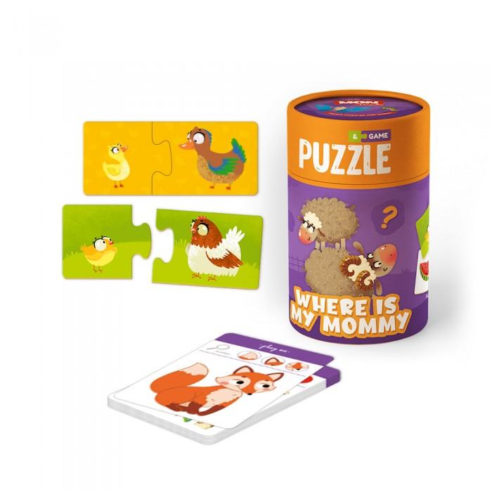 Mon Игровой набор Мама и малыш: пазлы и карточки с заданиями