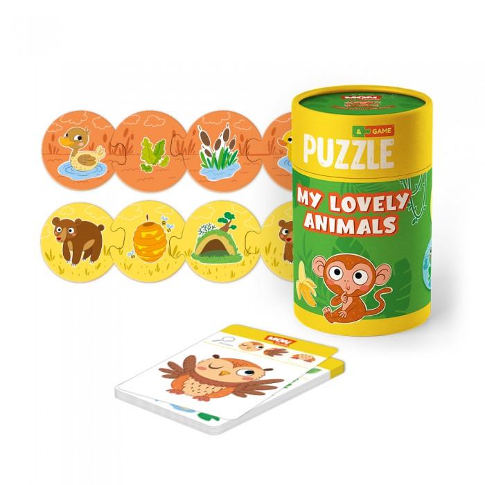 Mon Игровой набор Мои милые зверята: пазлы и карточки с заданиями