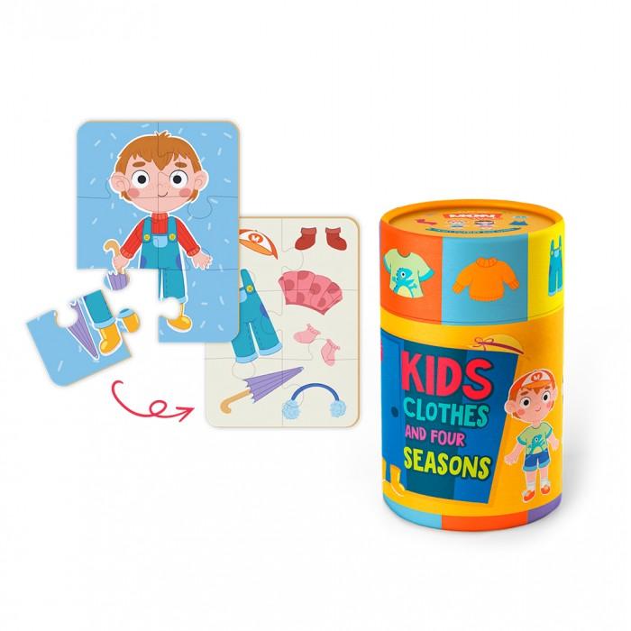 Mon Игровой набор Одежда и времена года: пазл и карточки с заданиями