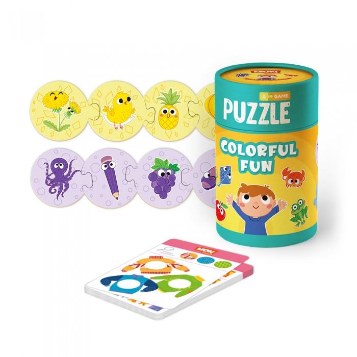 Пазлы Mon Игровой набор Разноцветные развлечения: пазл и карточки с заданиями