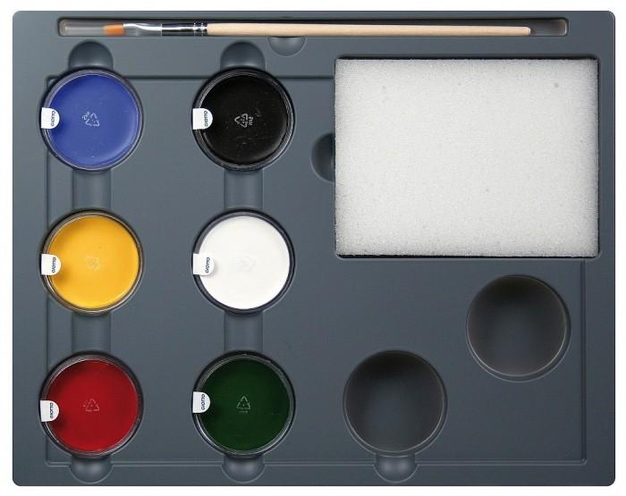 Наборы для творчества Giotto Make Up Грим-крем в баночках 5 цветов с кистью и спонжем 470100 набор д творчества giotto make up classic набор д грима 6 классических цветов карандашей 470200