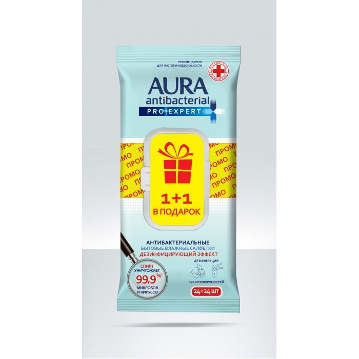 Бытовая химия Aura Влажные салфетки для поверхностей Pro Expert 48 шт.
