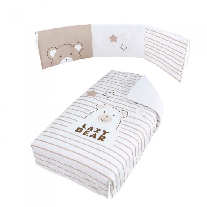 Комплекты в кроватку Micuna Покрывало и бортики Bubu 120x60 детские кроватки micuna bunny plus 120x60