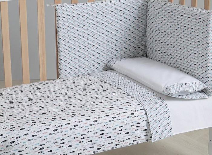 Комплекты в кроватку Micuna Покрывало и бортики Indie 120x60 детские кроватки micuna bunny plus 120x60