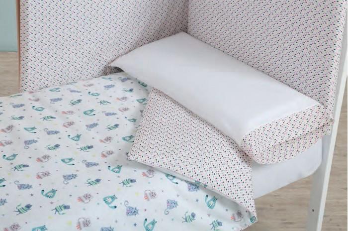 Комплекты в кроватку Micuna Покрывало и бортики Kittens 120x60 детские кроватки micuna bunny plus 120x60