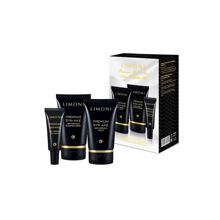 Limoni Premium Syn-Ake Anti-Wrinkle Care Set Набор Cream 50 мл + Eye Cream 25 мл + Sleeping Mask 50 мл