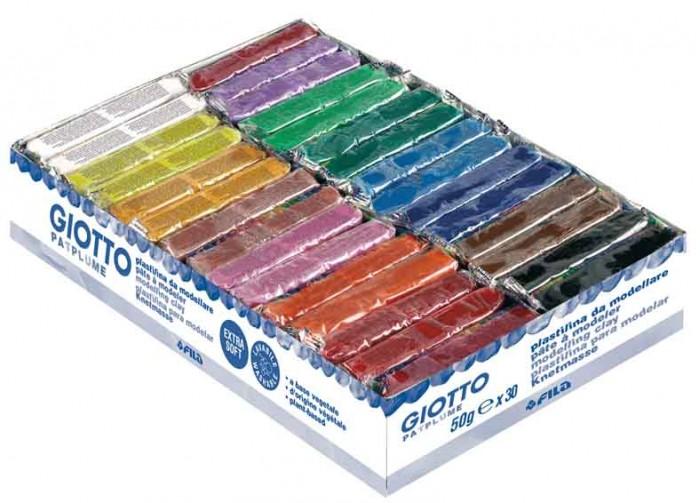 Всё для лепки Giotto Patplume пластилин 15 цветов х 50 г 30 шт. всё для лепки giotto patplume восковой пластилин классические цвета 10 цветов х 50 г
