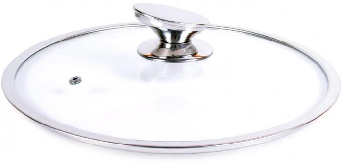 Фото - Посуда и инвентарь TimA Крышка с овальной ручкой и металлическим ободом 22 см крышка tima 4716 16 см стекло