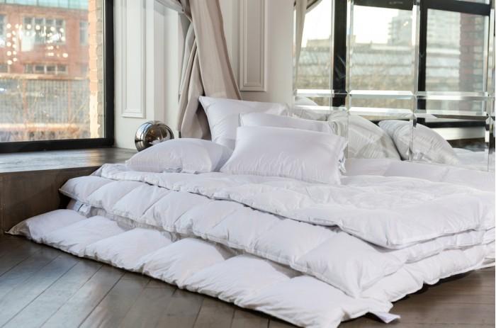 Купить Одеяла, Одеяло German Grass пуховое кассетное White Familie Down теплое 200x200 см
