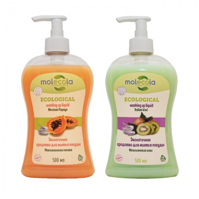 Бытовая химия Molecola Набор Экологичных концентрированных средств для мытья посуды Мексиканская папайя и Итальянское киви 500 мл недорого