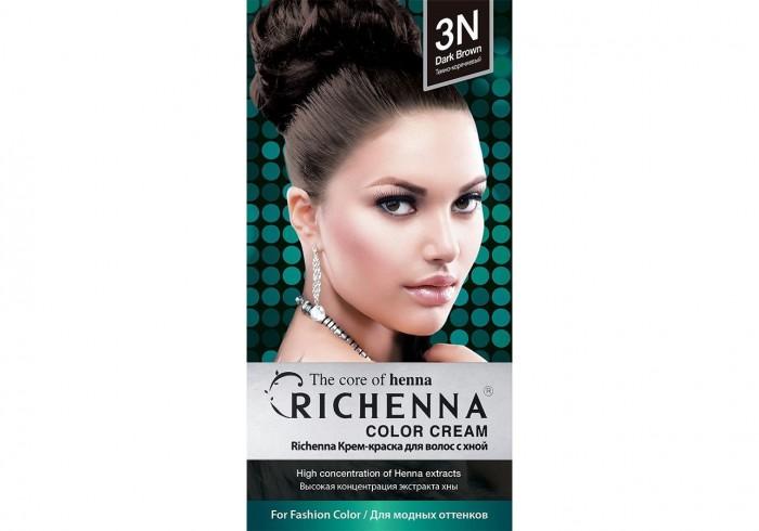 Косметика для мамы Richenna Крем-краска волос с хной № 3N Dark Brown