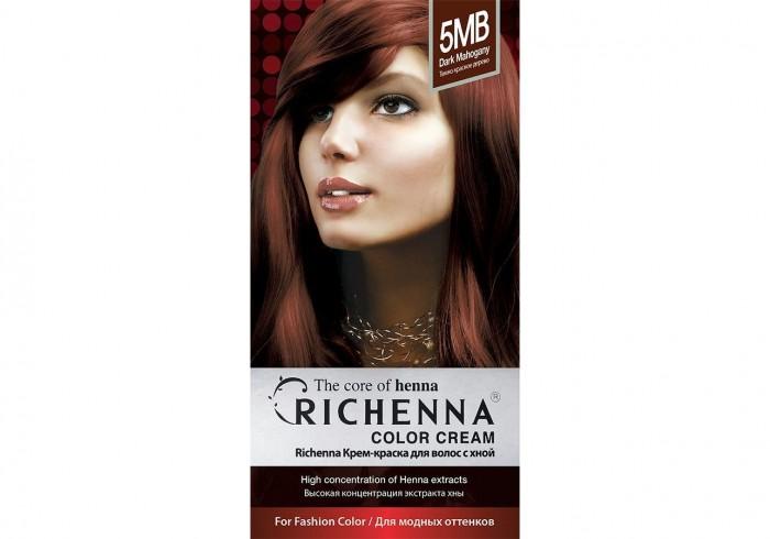 Косметика для мамы Richenna Крем-краска волос с хной № 5MB Dark Mahogany