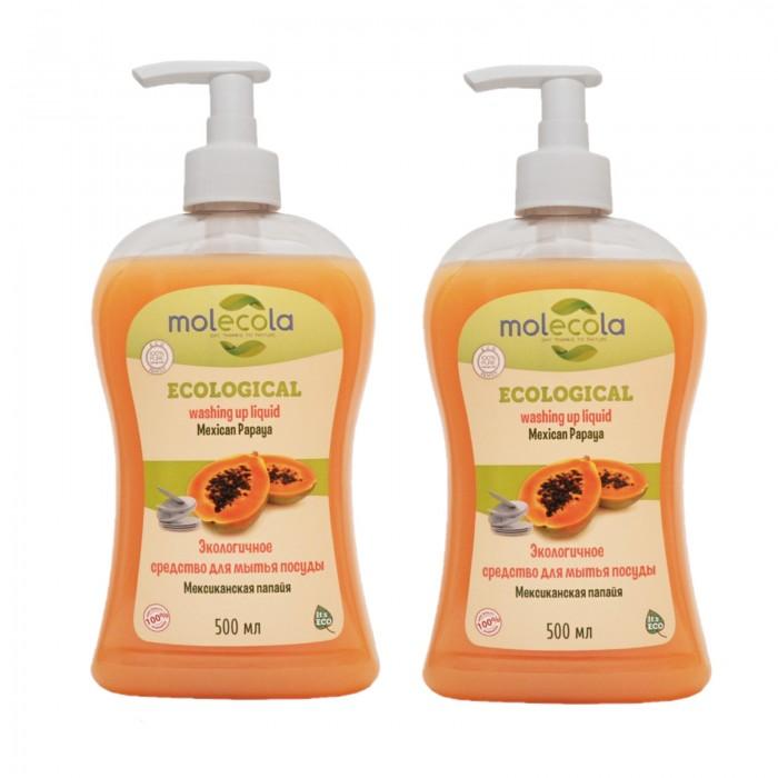 Бытовая химия Molecola Экологичное концентрированное средство для мытья посуды Мексиканская папайя 500 мл 2 шт. недорого