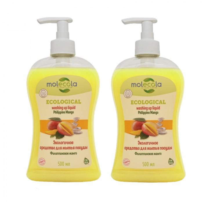 Бытовая химия Molecola Экологичное концентрированное средство для мытья посуды Филиппинское манго 500 мл 2 шт. недорого
