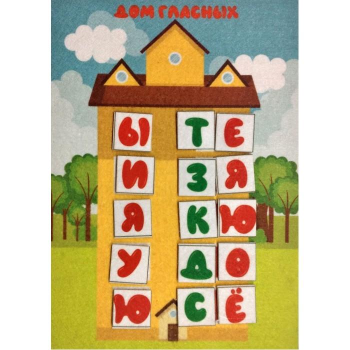 Картинка для Раннее развитие Учитель Игра развивающая из фетра Дома для букв