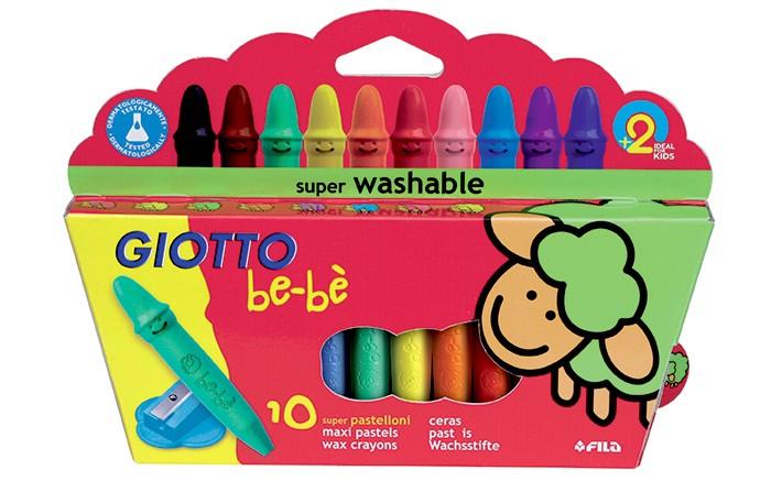 Карандаши, восковые мелки, пастель Giotto be-be Crayons 10 wax Восковые 10 цветов карандаши восковые мелки пастель играем вместе мелки восковые тачки 6 цветов