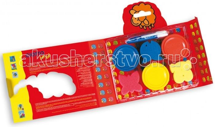 Развитие и школа , Краски Giotto Набор пальчиковых красок be-be Super Finger Colours для моделирования арт: 102817 -  Краски