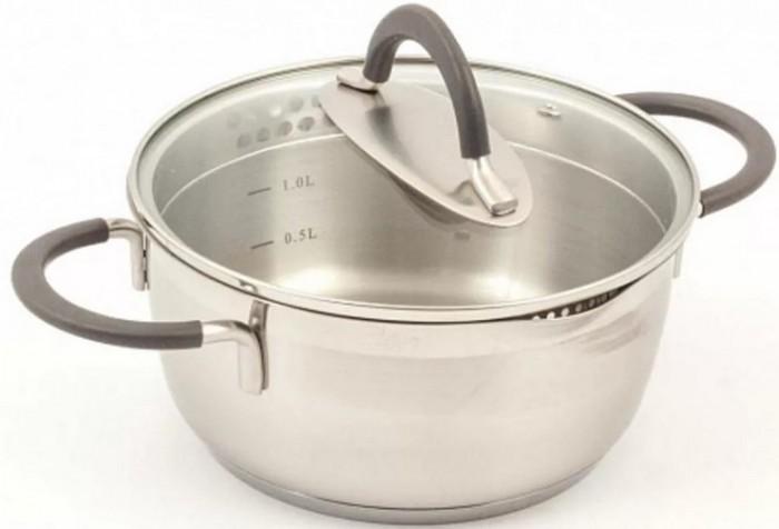 Посуда и инвентарь TimA Кастрюля с 2-мя носиками крышкой Идеал 2 л