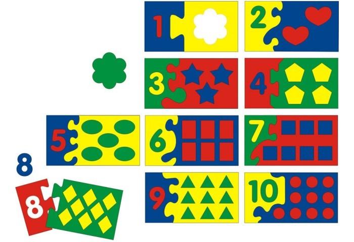 Пазлы Флексика Мозаика мягкая Математический набор (86 деталей) пазлы апплика мозаика мягкая цифры из самоклеящегося мягкого пластика eva