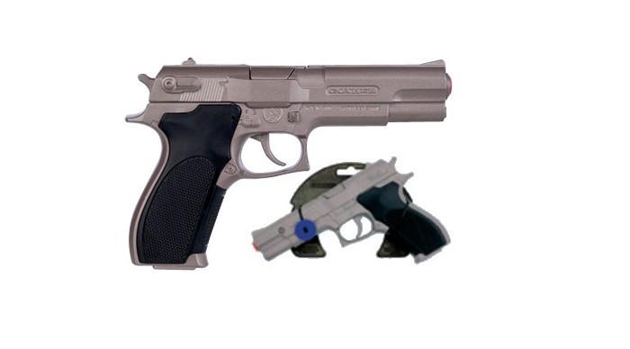 Игрушечное оружие Gonher Игрушка Револьвер полицейский со звуком 3045/0 игрушечное оружие gonher игрушка набор ковбой револьвер кобура 150 0