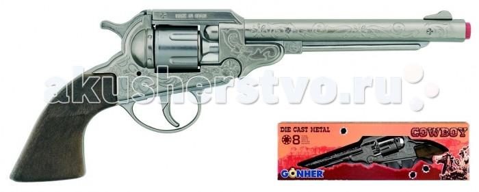 Игрушечное оружие Gonher Игрушка Ковбойский револьвер (металл) 88/0 игровой набор gonher ковбойский 2 револьвера на 8 пистонов 2 кобуры звезда шерифа 158 0