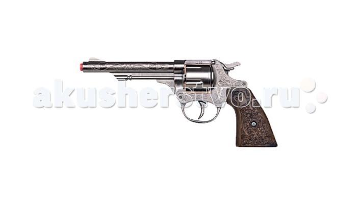 Игрушечное оружие Gonher Игрушка Ковбойский револьвер (металл) 80/0 игровой набор gonher ковбойский 2 револьвера на 8 пистонов 2 кобуры звезда шерифа 158 0
